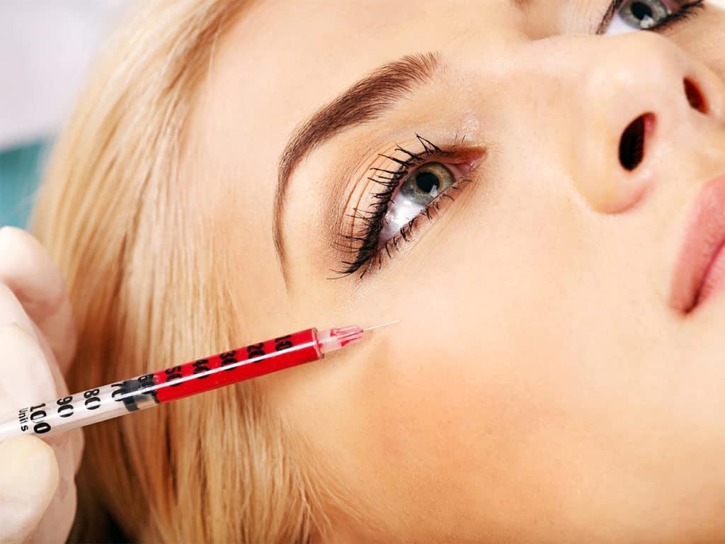 Botoxbehandlung bei einer Frau