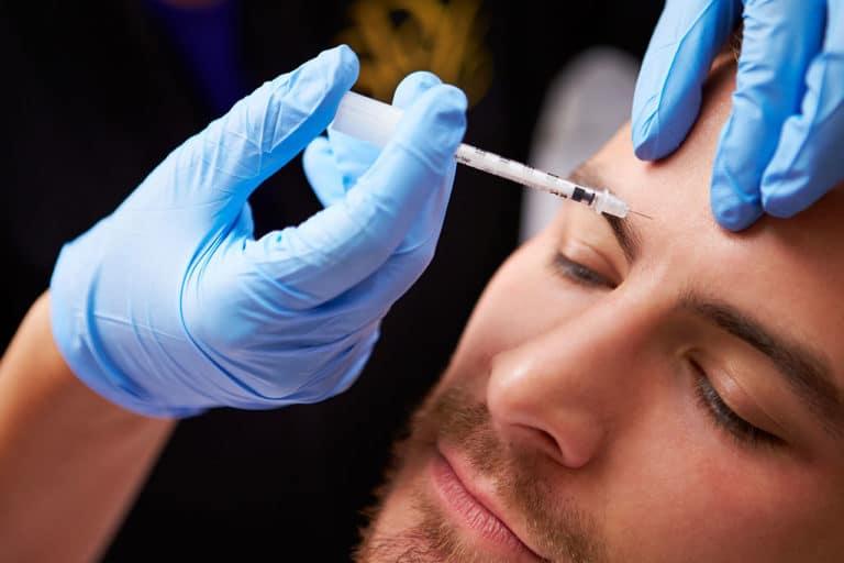 Botox im Gesicht