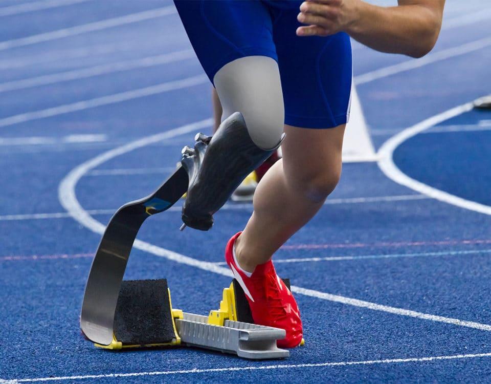 Sportler mit amputiertem Bein