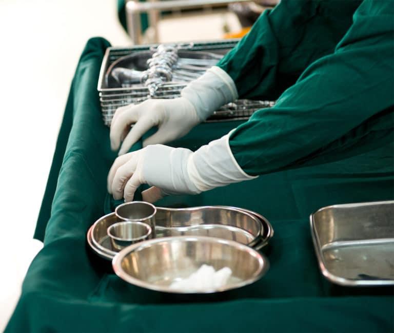 Vorbereitung der Operation